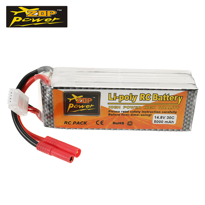 ZOP Power 14.8v 5000mah 30c 4S RC Drone Lipo Battery Banana Plug for Helicopter Quadcopter Car Li-ion Batteries for RC Toys Accs<br>