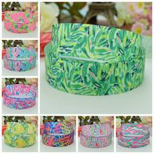 "DUWES 7/8""22mm Lilly flowers butterfly Printed grosgrain ribbon hairbow party decoration DIY handmade wholesale OEM 50YD(China)"