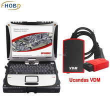 V3.8 VDM UCANDAS WIFI Full System Auto Diagnostic Tool Fit for USA Vehicles With Used Panasonic CF-19 Toughbook DHL Shipping