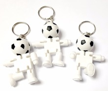 12pc Key Ring Football Movable Bendable Figure Boys Kids Favour Pinata Bag Filler Loot Gag Birthday Party Favor Gift Novelty