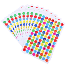 10sheets/1120pcs Kids Cute Smile Face Expression Stickers School Teacher Merit Praise Sticky Paper Lable Children Classic Toys(China)