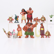 12pcs/lot Moana Maui Chief Tui Sina PVC Action Figures Gramma Tala Heihei Statue Anime Figurines Dolls Kids Toys for Boys Girls(China)