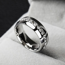 Wedding Ring For women Fashion Jewelry Gold Silver Crystal Cubic Zirconia Eternity 316L Stainless Steel Rings
