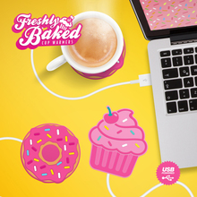 Free Shipping 1Piece Tea Coffee Mug Stand Heater USB Powered Coffee Tea Coaster Freshly Baked Cupcake Shaped USB Cup Warmer