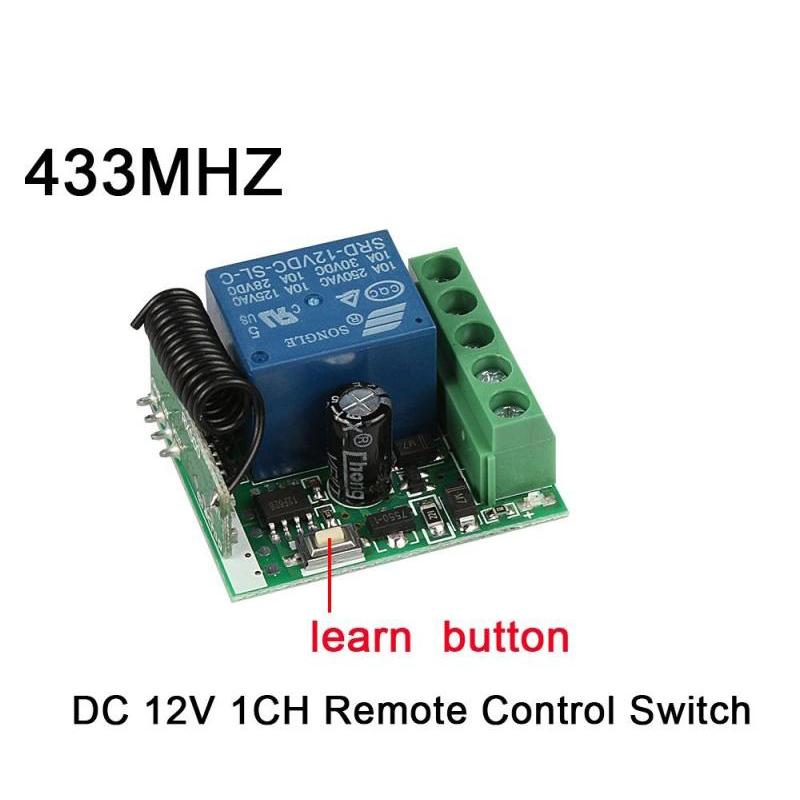 DC 12V 1CH Remote Control Switch 433Mhz