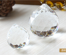 30mm 10pieces  Crystal Faceted Ball Chandelier Parts Glass Hanging Pendants Prism Ball For Home Decoration