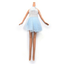 1 Pcs Princess  Halter Beach dress for Barbie Clothing Lovely Kids Girls Toy