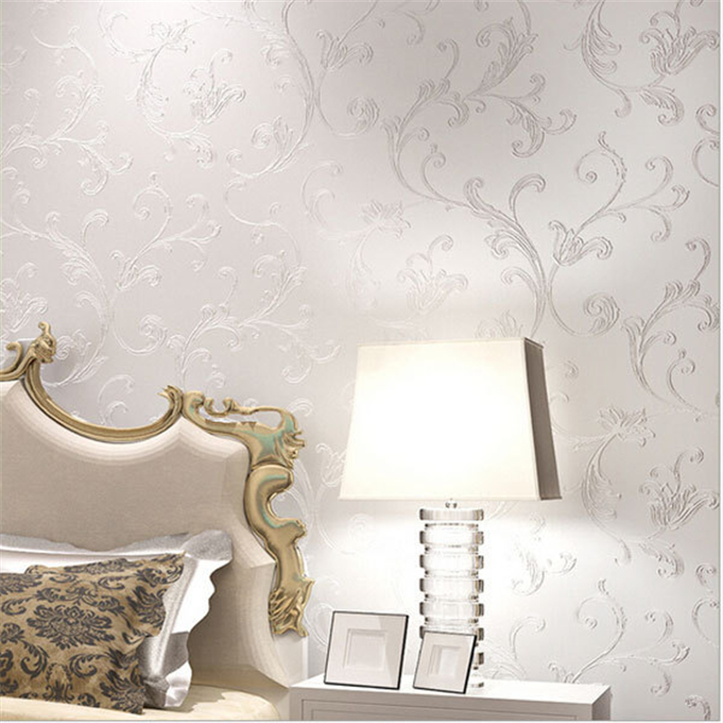 beibehang Elegant Acanthus Leaf Non-woven Wallpaper Wall Decor Simple Wallpapers Papel de Parede Bedroom Living Room<br>
