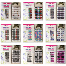 wholesale New Fashion Nail care full tip sticker with self-adhesion Nail art beauty patch decoration 200packs/lot free shipping