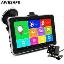 7 inch HD Car GPS Navigation Android Navigator Rear view Tablet pc Bluetooth/AVIN/WIFI/Navitel or Europe map sat nav Vehicle gps