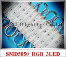 RGB LED module 5050 LED backlight LED pixel module light SMD5050 DC12V 3led IP66  CW / WW / R / Y / B / G / RGB  free shipping