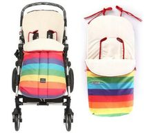 Baby Stroller winter sleeping bag envelope for newborns Doll strollers sack infantil carriage pram slumber bag for wheelchair(China)