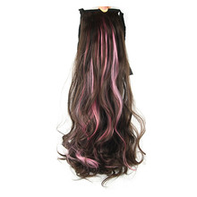 Soloowigs Natural Wave High Temperature Women Highlight Long Ponytails 55cm/22inch Hair Extensions