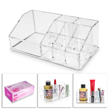 9 Cells Acrylic Cosmetic Storage Box Holder 17.5*9.5*6.2CM Makeup Organizer