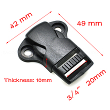 "3/4 ""(20 mm) ribbon center release buckles backpack belt buckle outdoor sports bag buckles tactical belt clasp"
