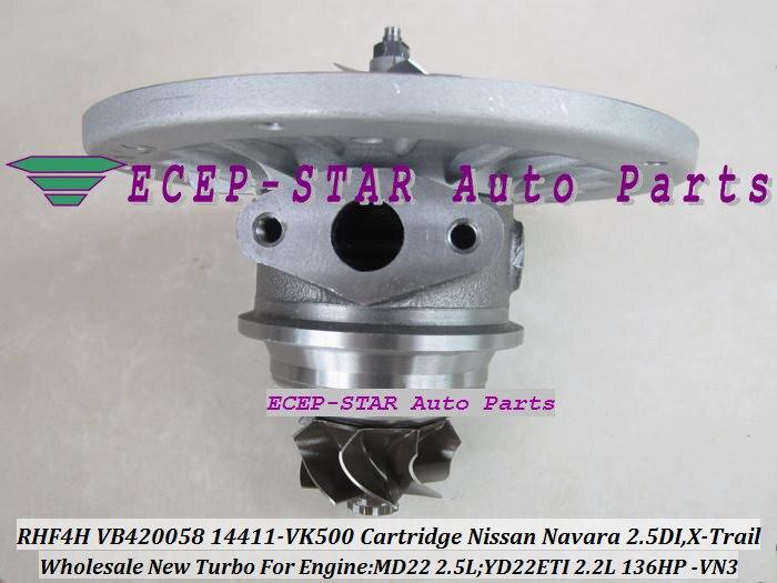 Turbo CHRA Cartridge RHF4H VN3 VA420058 14411-VK500 14411VK500 Turbocharger For NISSAN Navara 2.5L X-Trail MD22 YD22ETI 2.2L<br><br>Aliexpress