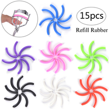 15 pcs/set Replacement Eyelash Curler Make Up Eyelash Curler Refill Rubber Pads Plastic Beauty Tool(China)