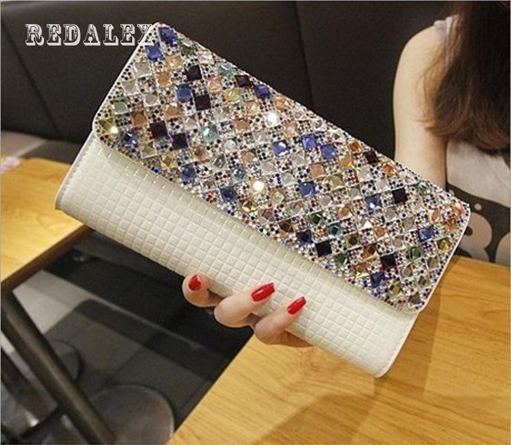 Simple Fashion Diamond Crystal Diamond Shoulder - Hand Bag Female<br>