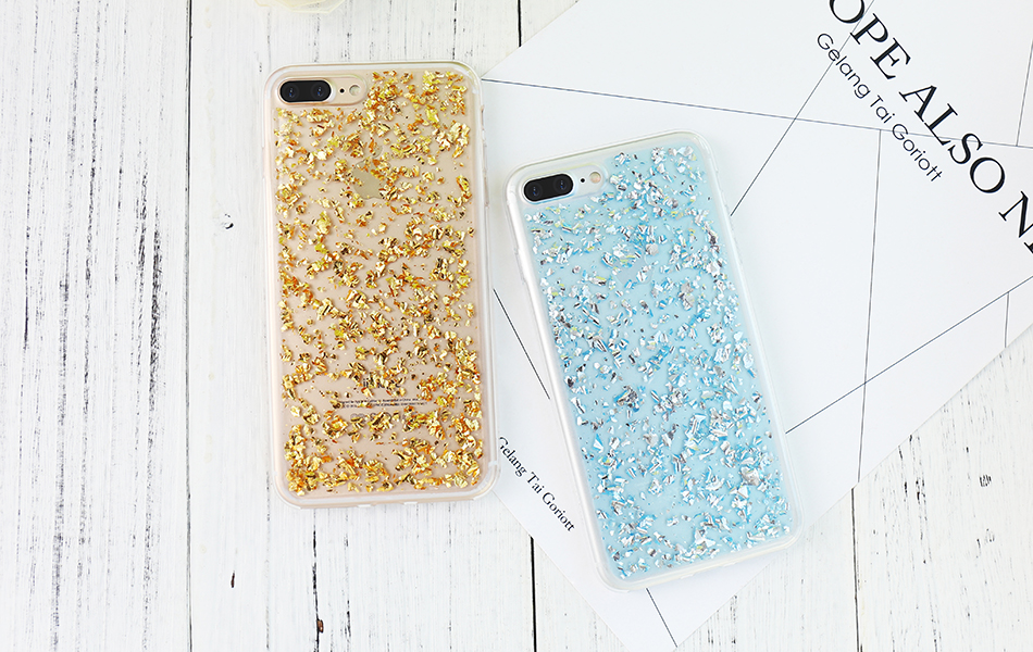 DOEES For iPhone 7 6 6S Plus 5 5S SE Case Luxury Cute Glitter Clear Case For Samsung Galaxy S8 Plus S7 S6 Edge S5 Note 7 5 Back Cover (14)