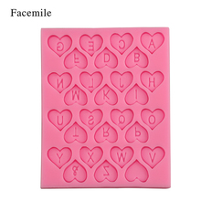 Valentine Wedding Cake Decorating Loving Heart Letter Lace Fondant Silicone Cake Candy Chocolate Gumpaste Mold Baking Tool(China)