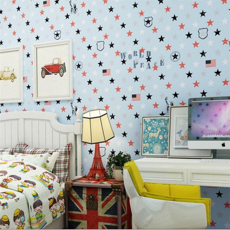 Beibehang Mediterranean Living Room 3D Wallpaper Cartoon Wallpaper Star Ceiling Decorative Wallpaper Kids Bedroom 3d wallpaper<br>