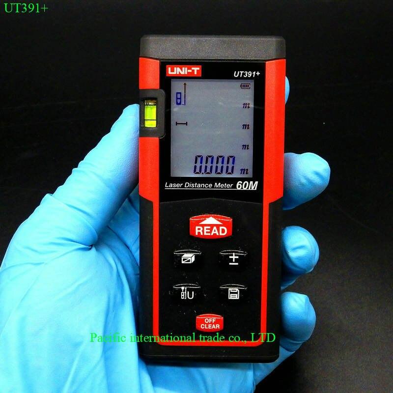 UNI-T UT391+  Digital Laser Distance Meter Range Finder Measure Tape Laser Telemetre  Handheld 60m laser rangefinder<br>