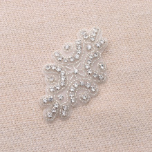 50Piece Rhinestone Applique By Hand Sparkle Crystal Sewing On Bridal Belt Wedding Dress Accessorie Sash For Prom DIY(China)
