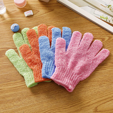 4Pcs Shower Gloves Exfoliating Wash Skin Spa Bath Gloves Foam Bath Skid Resistance Body Massage Cleaning Loofah Scrubber(China)