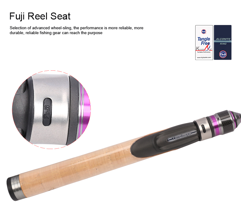 Tsurinoya 4' 6 UL Carbon Spinning Rod 1-6g Lure Weight, 2-6lb Line Weight Ultralight Fuji Fishing Rod Carbon Ul Spin Rod  (12)