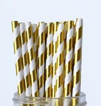 10000 Gold Foil Paper Straws,Bridal Shower Decor,Wedding Decor,Baby Shower Decor Cake Pop Sticks Drinking Straws Bulk