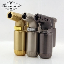 Butane Jet Lighter Torch Lighter Gasoline Fire Windproof Spray Gun Metal Lighter Keychains NO GAS For Father day Gifts Gift