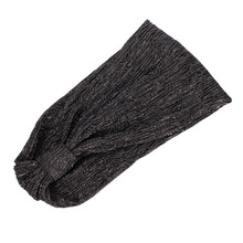 Spring Comfortable Elastic Fabric Solid Color Wide Side Shiny Elasticity Wash Face Leisure Headband