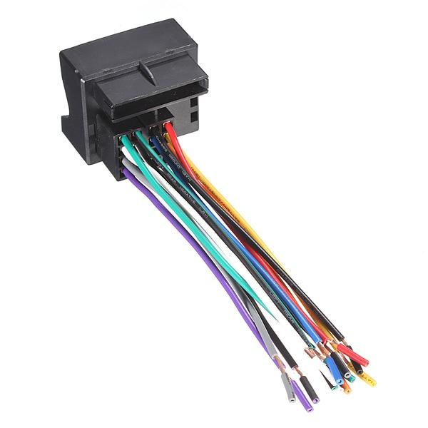 new car stereo cd radio player wire harness adapter plug for rh aliexpress com Radio Wiring Harness Diagram bmw e36 radio wiring adapter