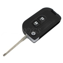 New 2 Button Folding Flip Remote Key Shell Car Case Fob Cover For Nissan Micra K12 Note Navara Qashqai Uncut Blank