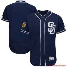 MLB Men's San Diego Padres Baseball Navy 2017 Spring Training Authentic Flex Base Team Jersey(China)