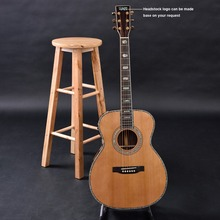 Customized acoustic guitar, handmade guitar,  OM size, solid cedar top, indian rosewood back and side