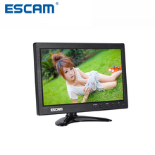 Escam 8/10-inch T08/T10 TFT HD LCD Monitor for Security Surveillance Camera CCTV Monitor PC Monitor System Support Audio Input