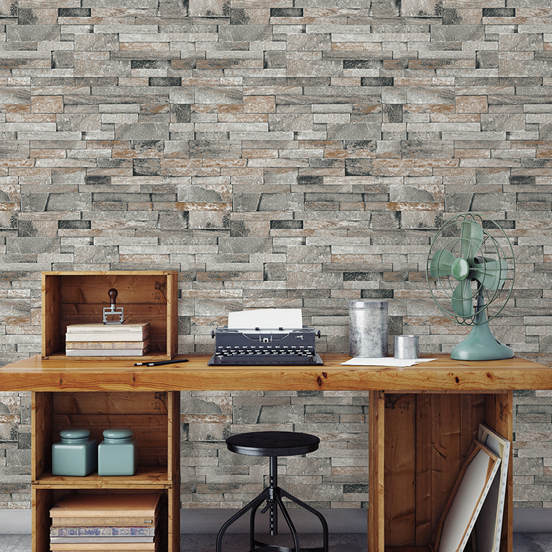 Beibehang High quality antique brick pattern living room restaurant bar cafe vintage brick wallpaper for walls 3 d tapety <br>