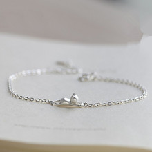 Europe Fashion running cat bracelets & bangles for women Cute animal cat sterling silver jewelry bracelets for women lady gift