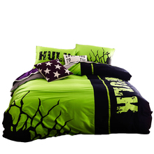 Hulk bedding set 100% cotton night-luminous duvet cover sheet designer bedding sets high quality fabric New arrival