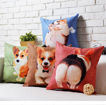 Arrow Angle Pembroke Welsh Corgi Kids Throw Massager Decorative Vintage Pillows Emoji Pillow Case Cover Home Decor Lover Gift(China)