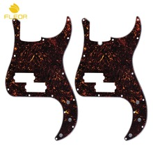 FLEOR Standard PB Bass Pickguard 13 Holes Anti-Scratch Plate 4Ply & Screws , Brown Tortoise Shell(China)
