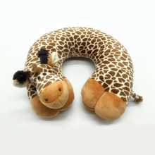 1* Hot Sale Comfortable Soft 4 styles U-shaped cotton Travel Pillow Cartoon Animal Car Headrest Doll Sleeping Easy-Taking