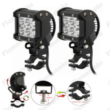 Adjustable Motorcycle Dirt Bike 18W LED Driving Spot Spotlight Light For BMW  Ducati  Triumph Daytona 675 ATV