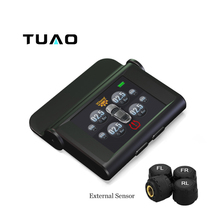TUAO TPMS Car Tire Pressure Monitoring System TY04 TFT Display Solar Power 4 External Sensor Auto Alarm System Diagnostic Tool
