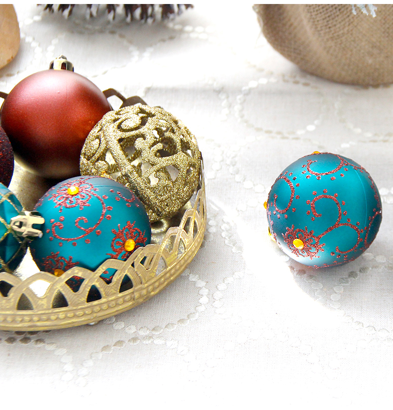 09 inhoo 6cm Christmas tree decorations Balls Ornaments Pendant 20pcs Red green white gold Ball Accessories For Home Xmas Party Hot