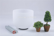 "Buy Frosted D# Sexual Chakra Quartz Crystal Singing Bowl 12"" free suede o-ring"