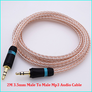 3.5mm Male to Male jack Car AMP DAC PHONE MP3 Aux Audio cable Audio Adapter Cable 50cm 16 Cores Hybrid Audio Cable