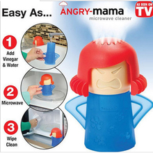 Angry Mama Shape Microwave Oven Steam Cleaner Easily Cleaning Steam Disinfects with Vinegar and Water Kitchen Gadget ZM(China)