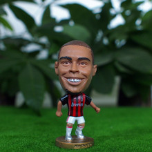 Kodoto Classic 6.5 cm Height Resin Football Star Doll Serie A Milan Team 99 Ronaldo Figure Red Black Kit